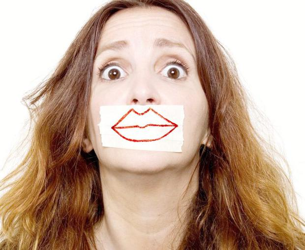 Laughing lips: Lucy Porter