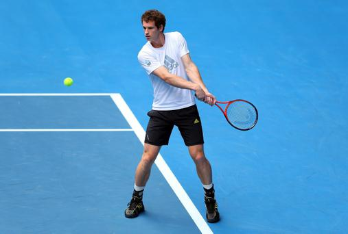 Andy Murray is heading back out on to the practice court
