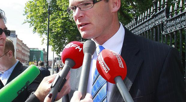 Simon Coveney said tests showed that horse DNA in burgers came from raw material brought into Ireland from elsewhere