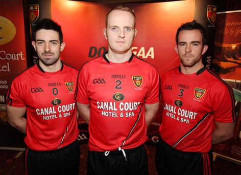 Launch of the new Down GAA shirt. (L-R) Jonathan McCusker, Benny Coulter and Mark Poland