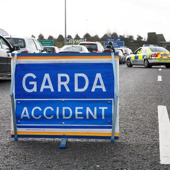 A man has died after a crash involving a Garda vehicle in Co Kildare