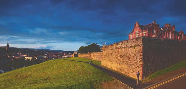 The majority of security gates in Derry's historic walls are being removed