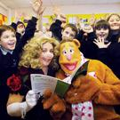 Pupils from St Mary's Star of the Sea PS in their Muppets-themed video