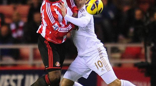 Titus Bramble, left, denied Danny Graham, right, as they played out a stalemate