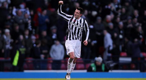 Steven Thompson and his St Mirren caused a massive upset