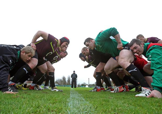 The Ireland Squad are put through their paces at Carton House in Maynooth as Declan Kidney looks on