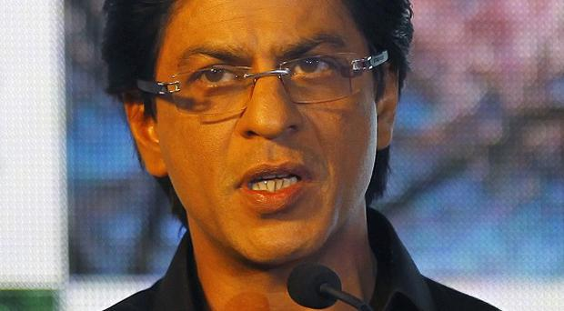 Bollywood actor Shah Rukh Khan has sparked a spat between India and Pakistan (AP)