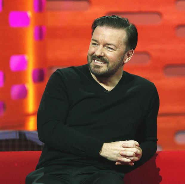 Ricky Gervais says he's happy to put his future TV shows on Twitter