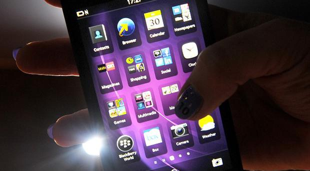 The new BlackBerry touchscreen device uses a new operating system