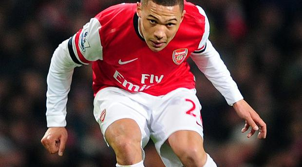 Kieran Gibbs has suffered a thigh injury