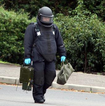 Part of the Shore Road in north Belfast was closed after a pipe bomb was found