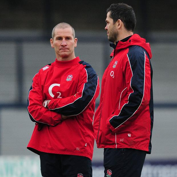 Stuart Lancaster, left, will name his England team to face Scotland on Thursday