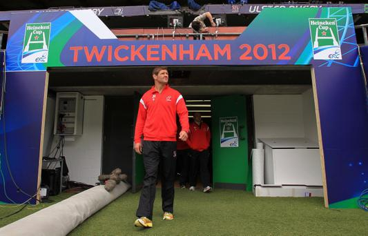 ©Press Eye Ltd Northern Ireland -18th May 2012 Mandatory Credit - Picture by Darren Kidd/Presseye.com The Heineken Cup Final, London 2012 The Ulster Squad arrive at Twickenham ahead of tomorrows Heineken Cup Final against Leinster. Ulster's Johann Muller (capt)