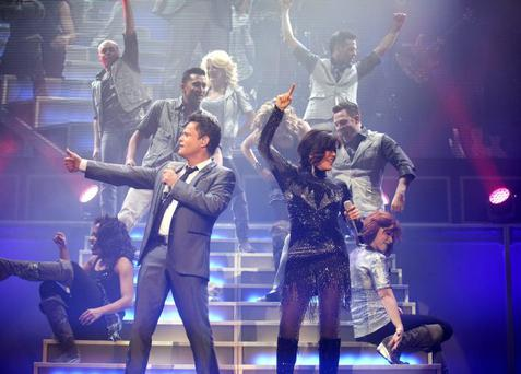 Donny and Marie Osmond performing in the Odyssey Arena