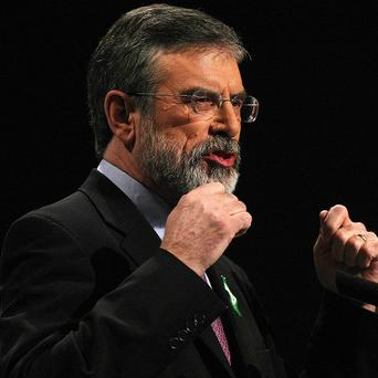 Gerry Adams apologised over members of the state forces who were killed by republicans in the course of the conflict