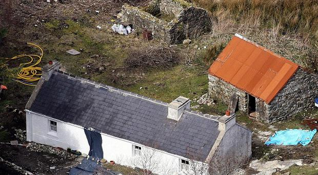 The house near the village of Glenties, Co Donegal, where former Sinn Fein member and British spy Denis Donaldson lived and was murdered
