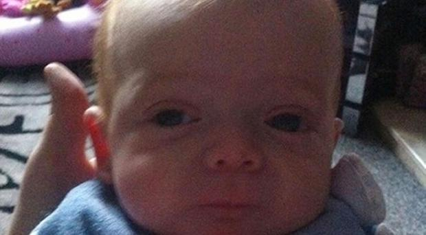 Kian McMillan, a four-month-old boy who was killed when a five-stone television set dropped on his head (PA/Lancashire Police)