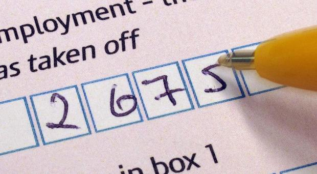 Taxpayers who fail to file their returns by midnight will automatically be fined 100 pounds