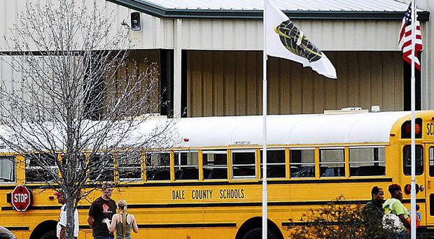 The school bus whose driver was shot (AP)
