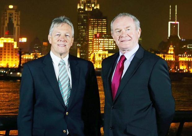 Poles apart: Peter Robinson and Martin McGuinness