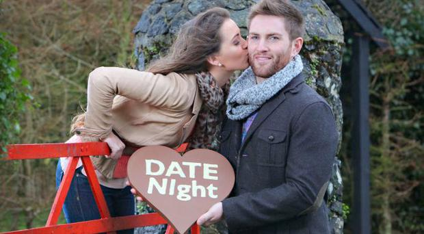 Miss Ireland Rebecca Maguire and Chris Hughes visit the Kissing Gate at Tannaghmore Gardens in Co. Armagh