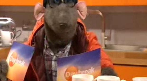 Roland Rat paid a visit to the Daybreak studios