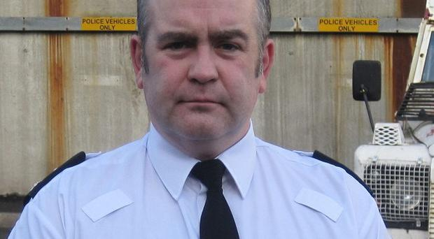 Superintendent George Clarke said a pipe bomb attack in Belfast was an attempt to murder police officers