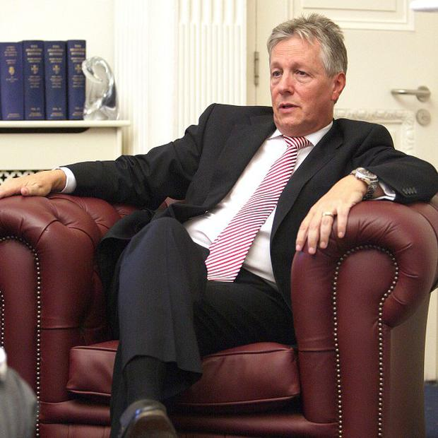 First Minister Peter Robinson condemned those who sent a threat to the head of the Lagan Group