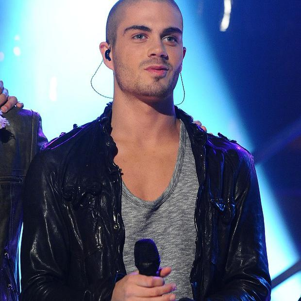 Max George's arm caught fire during a Los Angeles show