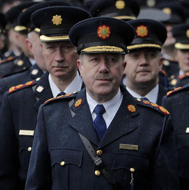 Garda Commissioner Martin Callinan at the funeral of Detective Garda Adrian Donohoe