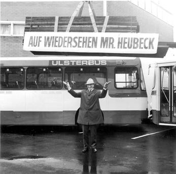 Werner Heubeck, head of the bus company from 1965 until 1988, who single-handedly removed a reputed 100 bombs