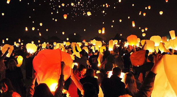 A ban on releasing Chinese lanterns and masses of balloons from council property in Co Antrim could be on the way, it has emerged