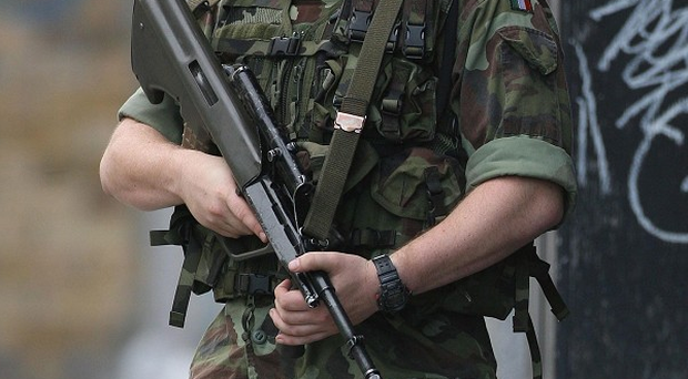 Irish Army Bomb Disposal Team arrived rendered viable improvised explosive device (IED) safe