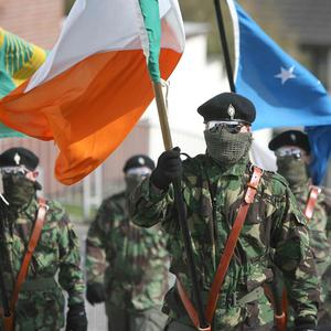 Dissident republican parade in Northern Ireland