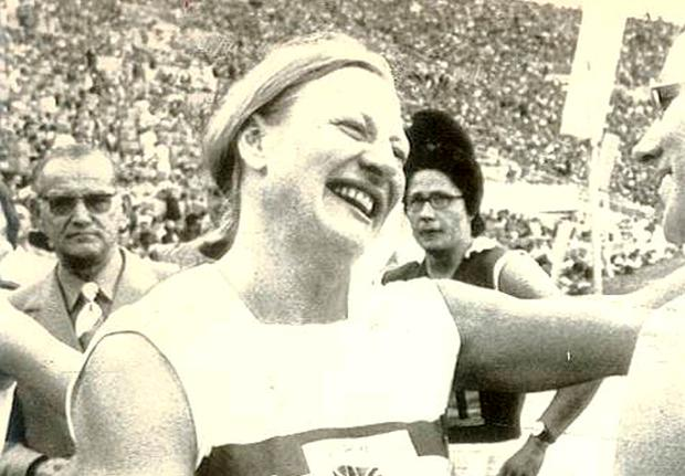 Mary Peters is Ulster's golden girl thanks to her fantastic performance at the 1972 Olympics in Munich when she won the pentathlon. It was the glorious climax of a long career which had saw her finish fourth in 1964 in Tokyo and ninth in 1968 in Mexico City. In the pentathlon in Munich, Mary won the shot putt and high jump and produced the run of her life in the 200m at the end of the second and final day of competition to beat local favourite Heide Rosendahl into second place. Mary's performance earned her 4801 points, beating the previous world record by 26 points.