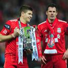 Steven Gerrard and Jamie Carragher will take to the pitch for Liverpool once again this week.