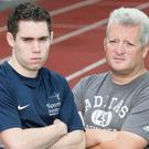 British Athletics coach Stephen Maguire (right) has won BBC Coach of the Year along with his two partners. He is pictured here with Jason Smyth.