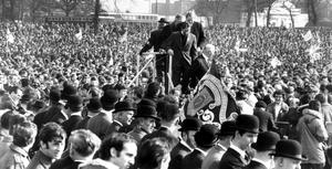 Ulster Vanguard Movement: A section of the crowd at the Vanguard Association Rally at Ormeau Park.  18/03/72