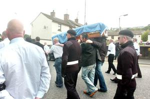 INLA killer Christopher 'Crip' McWilliam's funeral in Newry