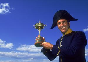 (FILE PHOTO)  Spanish Golf Legend Seve Ballesteros Dies At 54.Charismatic former World No. 1, five time Major winner, five time Ryder Cup winner, both as a player and as captainand winner of the European Tour's Order of Merit on six occasions.http://www.gettyimages.co.uk/Search/Search.aspx?EventId=113809426 Spanish golfer Severiano Ballesteros in his home town of Pedrena, Spain, with the Ryder Cup, June 1997. (Photo by David Cannon/Getty Images)