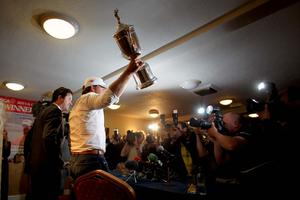 Graeme McDowell arrives back in Portrush after his triumph at the US Open