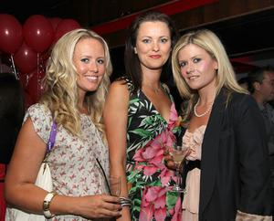 Kelly Blick, Joanne Crawford, Janine Fullerton in Ollies nightclub, Belfast for the Stephen Webster Silver Collection launch hosted by Lunn's the Jewellers