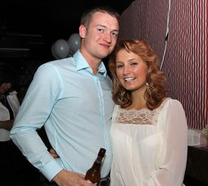 Richard Rosborough and Julianna Aytom in Ollies nightclub, Belfast for the Stephen Webster Silver Collection launch hosted by Lunn's the Jewellers