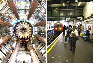 "<b>Smashing particle idea</b><br/> The Independent reports that London Underground is in talks with European Organisation for Nuclear Research (Cern) about the possibility of using he 23km tunnel of the Circle Line to house a new type of particle accelerator similar to the Large Hadron Collider in Geneva. Particle physicists believe the existing tunnel can be adapted to take a small-scale ""atom smasher"" alongside the passenger line at a fraction of the cost of building a new tunnel elsewhere in Europe. They are understood to have approached London Underground with a view to announcing a feasibility study later this year."