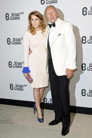 (L-R) Princess Beatrice of York and Harold Tillman attends Britain Creates 2012: Fashion & Art Collusion  at Old Selfridges Hotel on June 27, 2012 in London, England.
