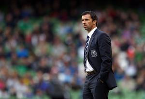DUBLIN, IRELAND - MAY 27:  Gary Speed, Manager of Wales looks on during the Carling Nations Cup match between Northern Ireland and Wales at the Aviva Stadium on May 27, 2011 in Dublin, Ireland.  (Photo by Julian Finney/Getty Images)
