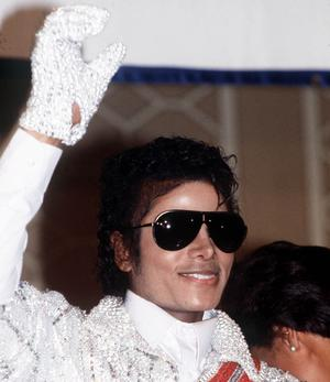 Music star Michael Jackson waves to his fans during his Tour in 1984, in London.