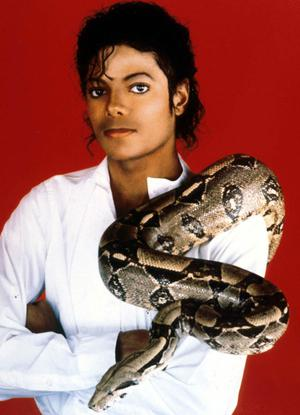 "Entertainer Michael Jackson poses with his pet boa constrictor September 15, 1987 in the USA. Jackson, who was the lead singer for the Jackson Five by age eight, reached the peak of his solo career with 1982''s ""Thriller,"" the best-selling album of all time and recipient of eight Grammy awards."