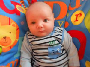 Jack William Busby first grandchild for John & Alison Beatty, Bangor  born 19 February 2012.