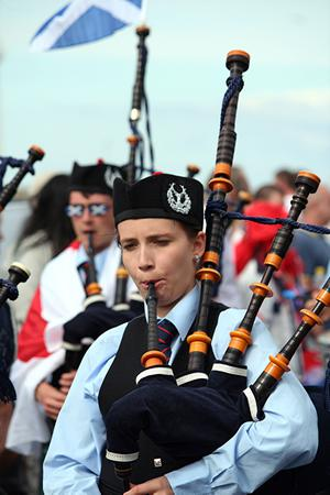 Piper with Cleland Memorial Pipe Band. Submitted by James Patterson